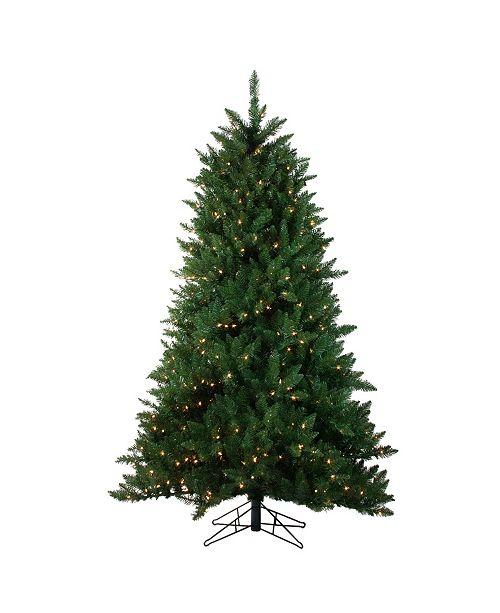 Northlight 6.5' Pre-Lit Montana Pine Artificial Christmas Tree - Clear Lights