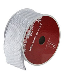 """Simply Gray Burlap Wired Christmas Craft Ribbon 2.5"""" x 10 Yards"""