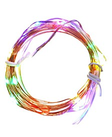 Set of 20 Battery Operated LED Multi-Color Christmas Fairy Lights - Copper Wire