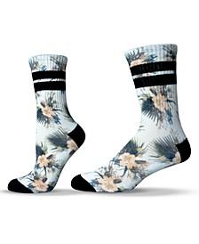 Unisex Floral Hibiscus Crew Socks