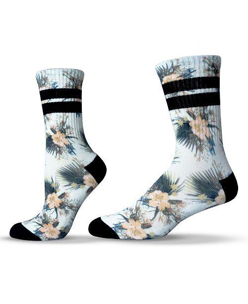 UNISOX Unisex Floral Hibiscus Crew Socks