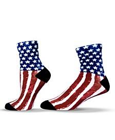 Unisex Americana USA Flag Quarter Socks