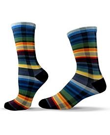 Unisex Patterned Plaid Crew Socks
