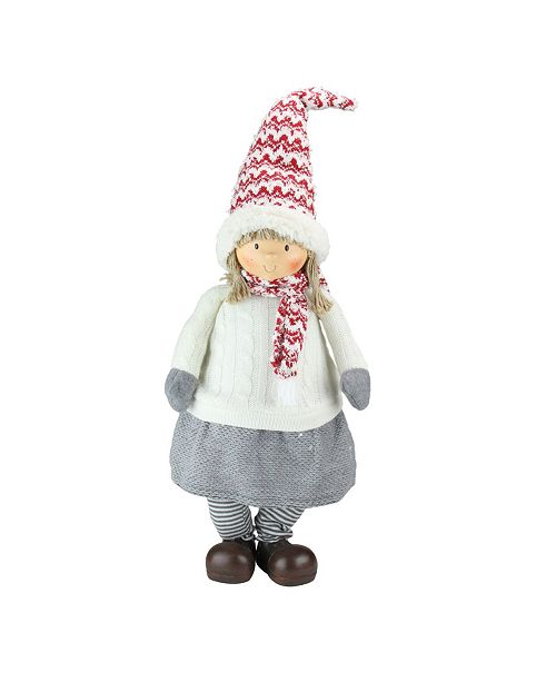 Northlight Young Girl Gnome Christmas Tabletop Decoration