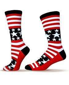 Unisex Patriotic American Flag Stars and Stripes Socks