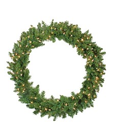 Pre-Lit Northern Pine Artificial Christmas Wreath - 36-Inch Clear Lights