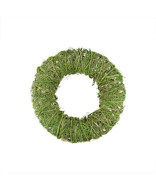 """Northlight 12"""" Green Moss and Vine Artificial Spring Wreath"""
