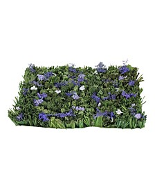 """16.5"""" Green and Purple Lavender Inspired Foliage Floor Mat"""