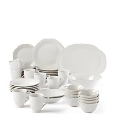 Lenox French Perle White 42-PC Dinnerware Set, Service for 4, Created for Macy's