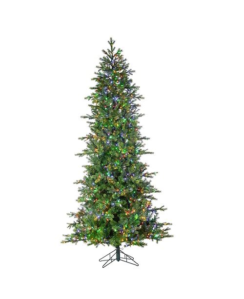 Sterling 7.5-Foot High Pre-Lit Natural Cut Aspen Pine with Instant Glow Power Pole Feature