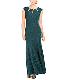 R & M Richards Embellished Keyhole Mermaid Gown