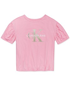 Big Girls Bubble-Sleeve T-Shirt