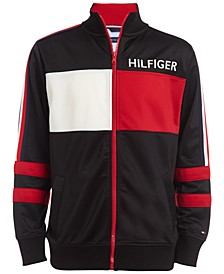 Big Boys Manuel Pieced Colorblocked Logo Track Jacket