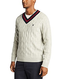 Men's Blue Sail V-Neck Classic Fit Sweater, Created For Macy's