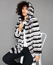 Reversible Rabbit Fur Coat
