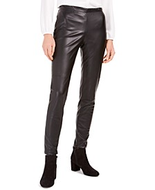 Faux-Leather Skinny Pants, Created for Macy's