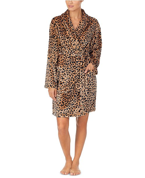 DKNY Women's Printed Plush Robe