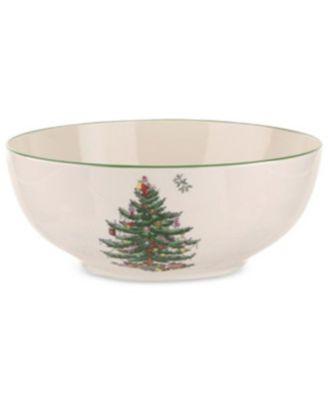 Christmas Tree Round Bowl