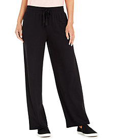 Style & Co Wide-Leg Tie-Waist Pants, Created for Macy's