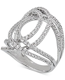Diamond Abstract Openwork Statement Ring (1-1/6 ct. t.w.) in 14k White Gold