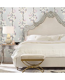 Cynthia Rowley for Cherry Blossoms Silver Self-Adhesive Wallpaper