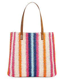 Martha Stewart Collection Vertical Stripe Beach Tote, Created for Macy's