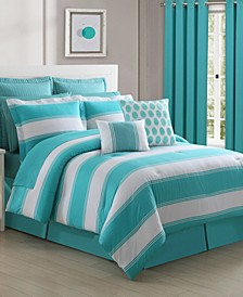 Cabana Stripe 4-Piece Full Comforter Set