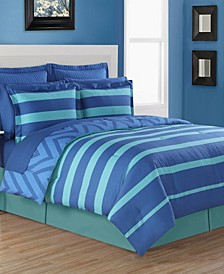 Biscay 4-Piece Reversible Full Comforter Set