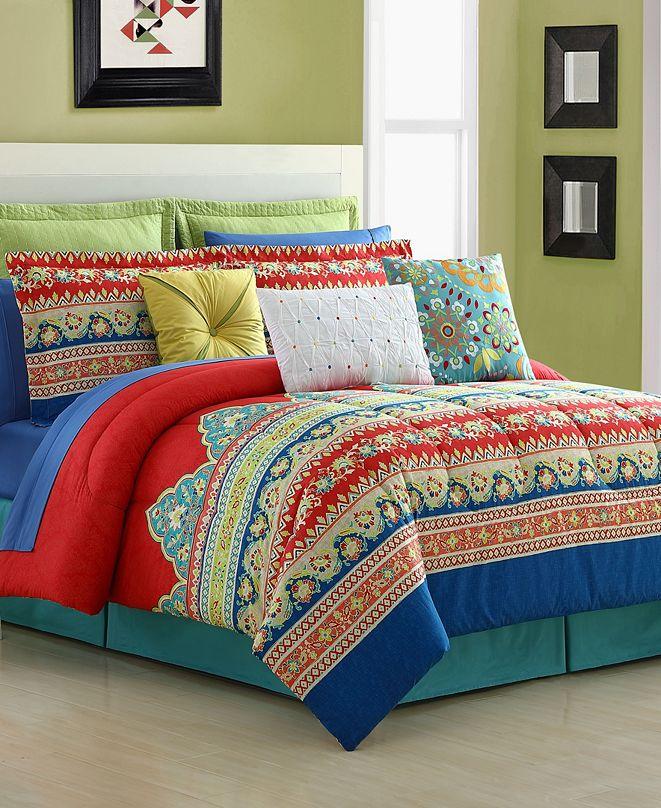 Fiesta Mariposa 4-Piece Full Comforter Set