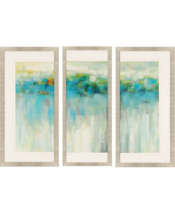 "Paragon Lights on the Beach Framed Wall Art Set of 3, 39"" x 19"""