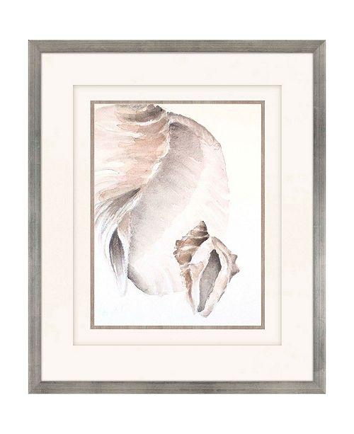 "Paragon Tonal Shell on Cream II Framed Wall Art, 39"" x 33"""