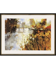 "Bridge at Autumn Morning Framed Wall Art, 22"" x 31"""