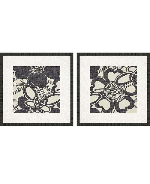 "Paragon Floral Katagami Framed Wall Art Set of 2, 25"" x 25"""