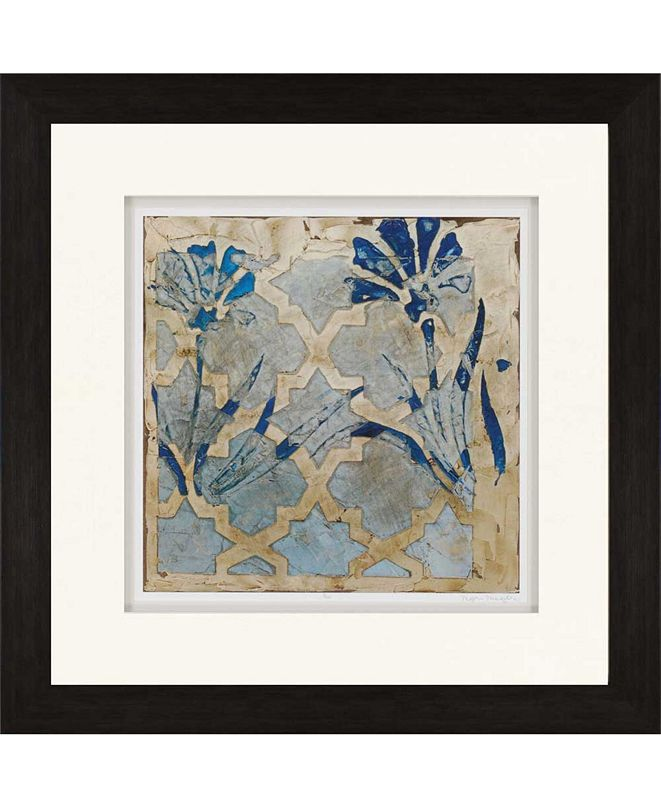 """Paragon Stained Glass Indigo II Framed Wall Art, 35"""" x 35"""""""