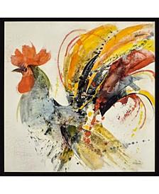 """Festive Rooster II Framed Wall Art, 31"""" x 31"""""""
