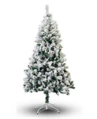 7' Flocked Snow Christmas Tree