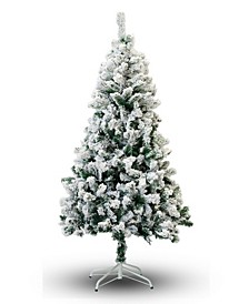 7' Flocked Snow Christmas Tree