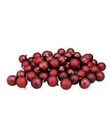60Ct Shatterproof 4-Finish Christmas Ball ornaments 60mm