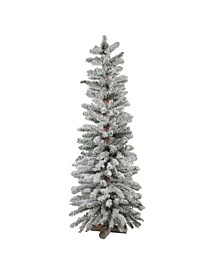 4' Heavily Flocked Artificial Alpine Christmas Tree - Unlit