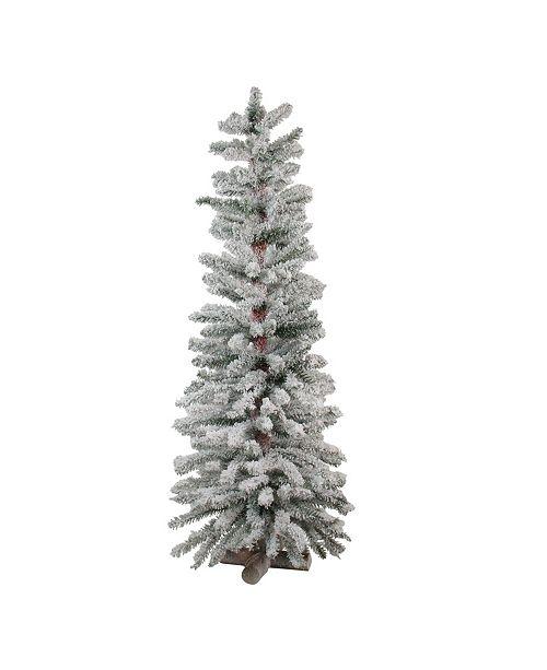 Northlight Heavily Flocked Artificial Alpine Christmas Tree - Unlit