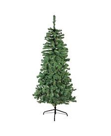 6' Pre-Lit Alberta Pine Slim Artificial Christmas Tree - Multi Lights