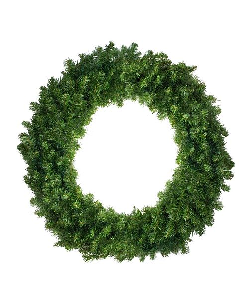 """Northlight 36"""" Canadian Pine Artificial Christmas Wreath - Unlit"""