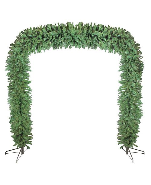 Northlight 9' x 8' Commercial Size Green Pine Artificial Christmas Archway - Unlit