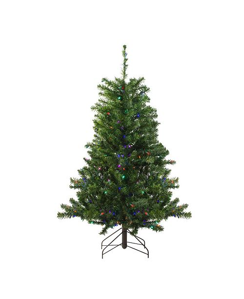 Northlight 4' Pre-Lit LED Canadian Pine Artificial Christmas Tree - Multi Lights
