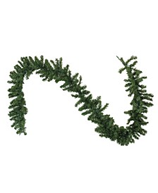 9'  Pre-Lit LED Canadian Pine Artificial Christmas Garland - Clear Lights