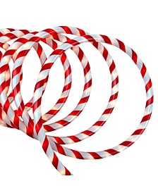 18' Red and White Candy Cane Striped Christmas Rope Light