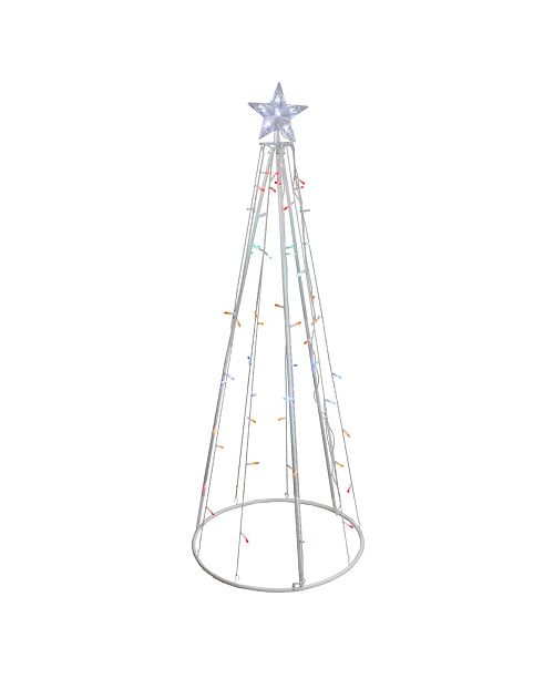 Northlight 5' Multi-Color LED Lighted Show Cone Christmas Tree Outdoor Decoration