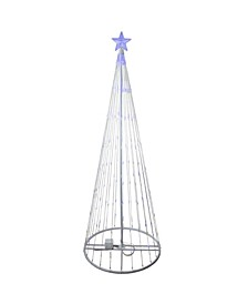 6' Blue LED Lighted Show Cone Christmas Tree Outdoor Decoration