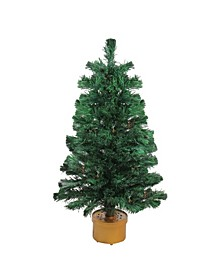 Pre-Lit Color Changing Fiber Optic Artificial Christmas Tree