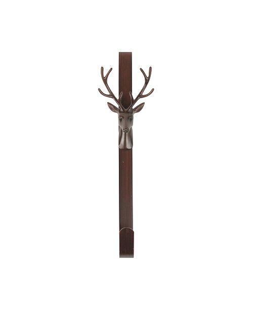 Northlight Rustic Bronze Deer Christmas Wreath Hanger